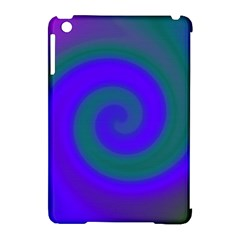 Swirl Green Blue Abstract Apple Ipad Mini Hardshell Case (compatible With Smart Cover)