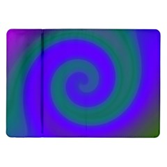 Swirl Green Blue Abstract Samsung Galaxy Tab 10 1  P7500 Flip Case by BrightVibesDesign
