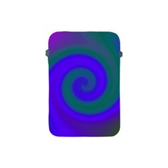 Swirl Green Blue Abstract Apple Ipad Mini Protective Soft Cases by BrightVibesDesign