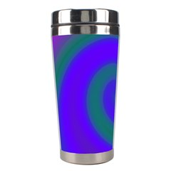 Swirl Green Blue Abstract Stainless Steel Travel Tumblers