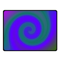 Swirl Green Blue Abstract Double Sided Fleece Blanket (small)