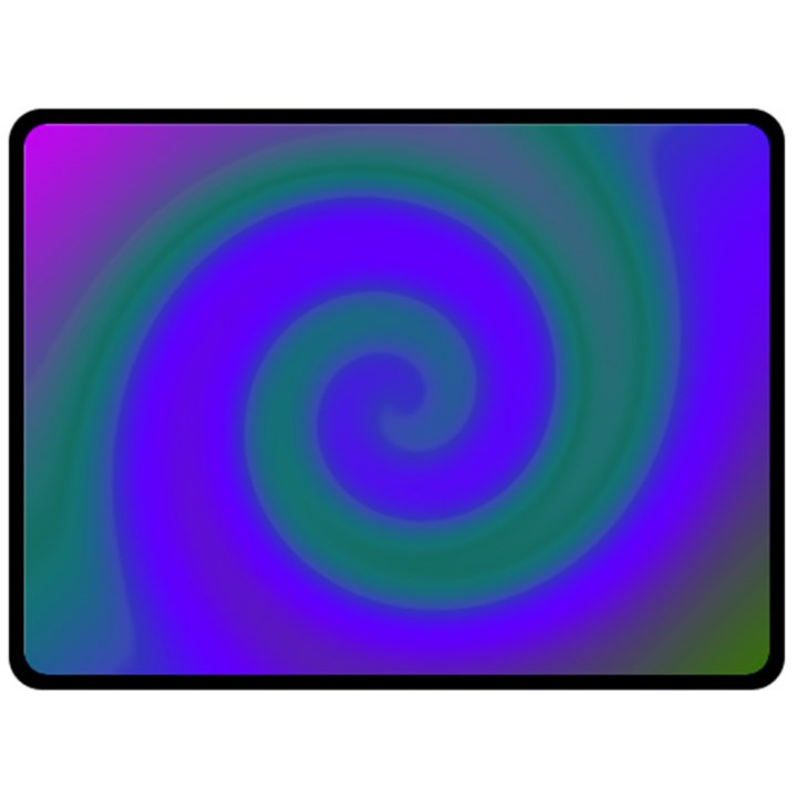 Swirl Green Blue Abstract Double Sided Fleece Blanket (Large)