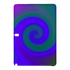 Swirl Green Blue Abstract Samsung Galaxy Tab Pro 12 2 Hardshell Case by BrightVibesDesign