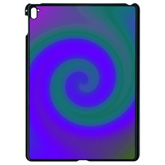 Swirl Green Blue Abstract Apple Ipad Pro 9 7   Black Seamless Case