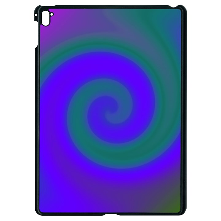 Swirl Green Blue Abstract Apple iPad Pro 9.7   Black Seamless Case