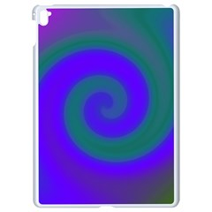 Swirl Green Blue Abstract Apple Ipad Pro 9 7   White Seamless Case