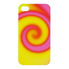 Swirl Yellow Pink Abstract Apple Iphone 4/4s Hardshell Case