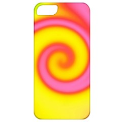 Swirl Yellow Pink Abstract Apple Iphone 5 Classic Hardshell Case by BrightVibesDesign