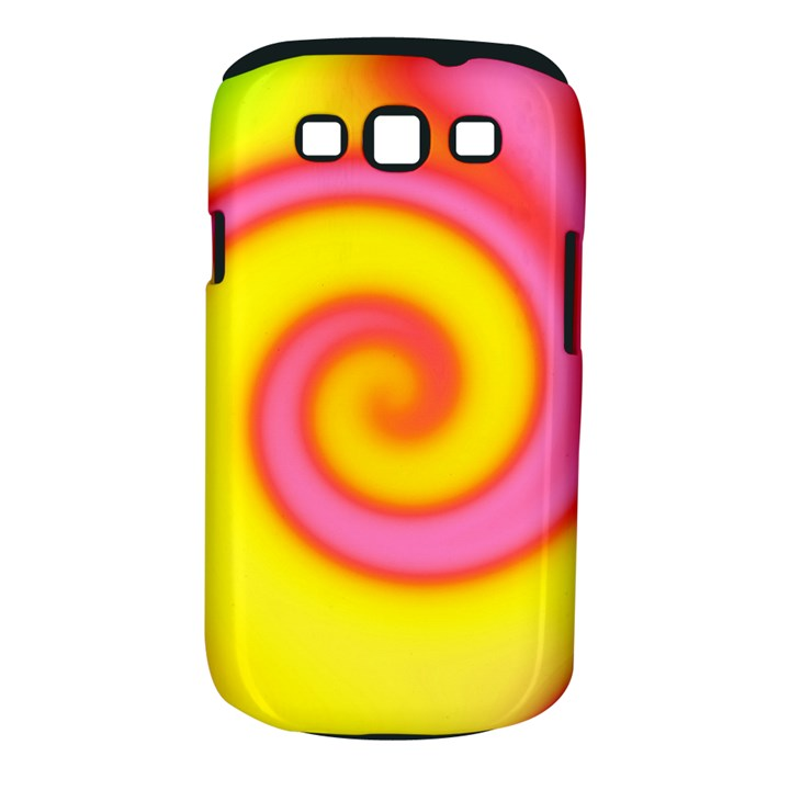 Swirl Yellow Pink Abstract Samsung Galaxy S III Classic Hardshell Case (PC+Silicone)