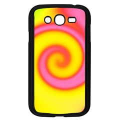 Swirl Yellow Pink Abstract Samsung Galaxy Grand Duos I9082 Case (black) by BrightVibesDesign