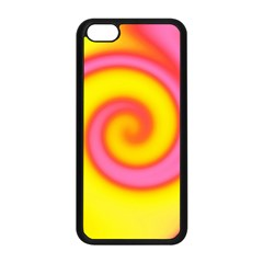 Swirl Yellow Pink Abstract Apple Iphone 5c Seamless Case (black)