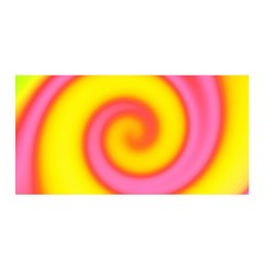 Swirl Yellow Pink Abstract Satin Wrap by BrightVibesDesign