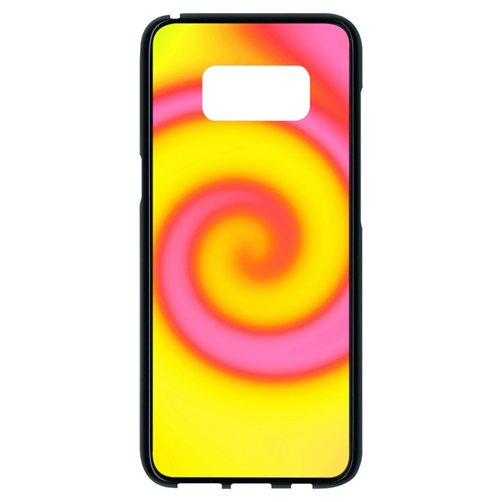 Swirl Yellow Pink Abstract Samsung Galaxy S8 Black Seamless Case