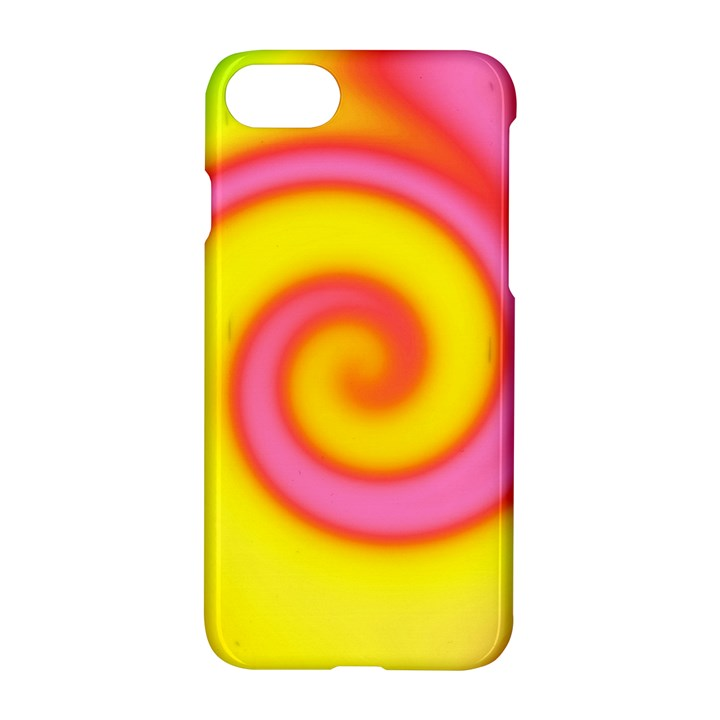 Swirl Yellow Pink Abstract Apple iPhone 8 Hardshell Case