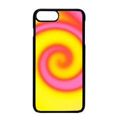 Swirl Yellow Pink Abstract Apple Iphone 8 Plus Seamless Case (black) by BrightVibesDesign