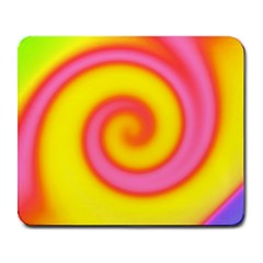 Swirl Yellow Pink Abstract Large Mousepads by BrightVibesDesign