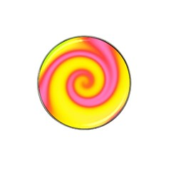 Swirl Yellow Pink Abstract Hat Clip Ball Marker (4 Pack) by BrightVibesDesign