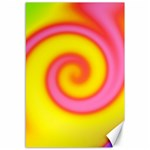 Swirl Yellow Pink Abstract Canvas 12  x 18   18 x12  Canvas - 1