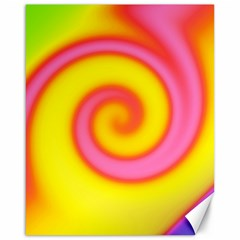 Swirl Yellow Pink Abstract Canvas 16  X 20