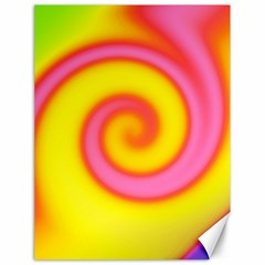 Swirl Yellow Pink Abstract Canvas 18  X 24