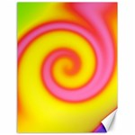 Swirl Yellow Pink Abstract Canvas 18  x 24   24 x18 Canvas - 1