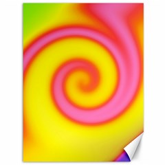 Swirl Yellow Pink Abstract Canvas 36  X 48   by BrightVibesDesign