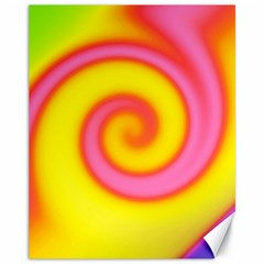 Swirl Yellow Pink Abstract Canvas 11  X 14