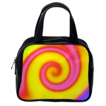 Swirl Yellow Pink Abstract Classic Handbags (2 Sides) Back