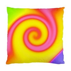 Swirl Yellow Pink Abstract Standard Cushion Case (one Side)