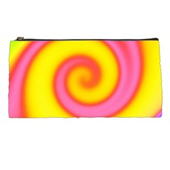 Swirl Yellow Pink Abstract Pencil Cases