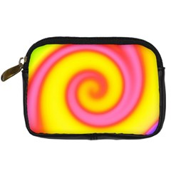 Swirl Yellow Pink Abstract Digital Camera Cases