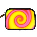 Swirl Yellow Pink Abstract Digital Camera Cases Front