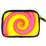Swirl Yellow Pink Abstract Digital Camera Cases Back