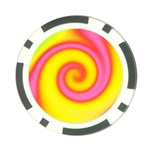Swirl Yellow Pink Abstract Poker Chip Card Guard (10 pack) Front