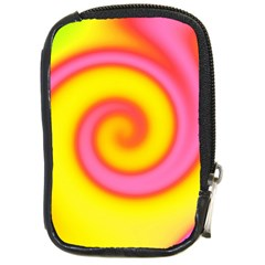 Swirl Yellow Pink Abstract Compact Camera Cases