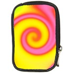 Swirl Yellow Pink Abstract Compact Camera Cases Front