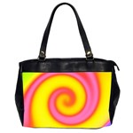 Swirl Yellow Pink Abstract Office Handbags (2 Sides)  Front