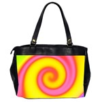 Swirl Yellow Pink Abstract Office Handbags (2 Sides)  Back