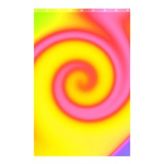 Swirl Yellow Pink Abstract Shower Curtain 48  X 72  (small)