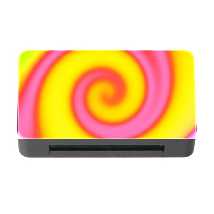 Swirl Yellow Pink Abstract Memory Card Reader with CF