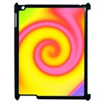 Swirl Yellow Pink Abstract Apple iPad 2 Case (Black) Front