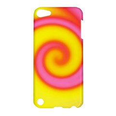 Swirl Yellow Pink Abstract Apple Ipod Touch 5 Hardshell Case