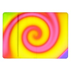 Swirl Yellow Pink Abstract Samsung Galaxy Tab 10 1  P7500 Flip Case