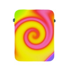 Swirl Yellow Pink Abstract Apple Ipad 2/3/4 Protective Soft Cases by BrightVibesDesign