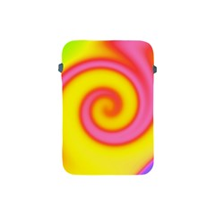 Swirl Yellow Pink Abstract Apple Ipad Mini Protective Soft Cases by BrightVibesDesign