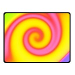 Swirl Yellow Pink Abstract Double Sided Fleece Blanket (Small)  45 x34  Blanket Front