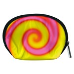 Swirl Yellow Pink Abstract Accessory Pouches (Medium)  Back