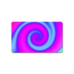 Swirl Pink Turquoise Abstract Magnet (name Card) by BrightVibesDesign