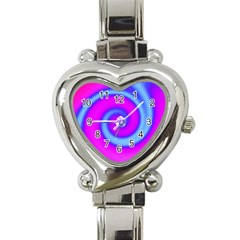 Swirl Pink Turquoise Abstract Heart Italian Charm Watch by BrightVibesDesign