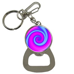 Swirl Pink Turquoise Abstract Bottle Opener Key Chains by BrightVibesDesign
